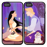 Pocahontas and Captain John Smith Custom couple Case for iPhone 4 and iPhone 5 case.