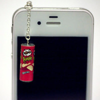Kawaii PRINGLES ORIGINAL Iphone Earphone Plug/Dust Plug - Cellphone Headphone Handmade Decorations