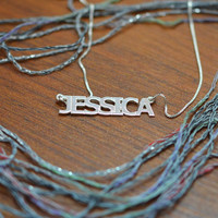 Sterling Silver Name Necklace in All Capitals