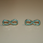 Aqua Infinity Earrings. Item ships from NY (USA)