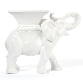 Ceramic Elephant - White | Z Gallerie