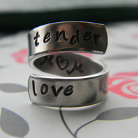 tender love MOM aluminum wrapped style  ring 1/4 inch