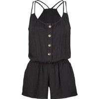 FULL TILT Button Front Womens Romper: Clothing