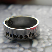 namaste  aluminum wrapped style  ring 1/4 inch