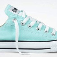 Converse Chuck Taylor All Star Lo Top Aruba Blue Youth`s 13: Shoes