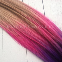 Tape Hair Extensions//Cotton Candy Pink by NinasCreativeCouture
