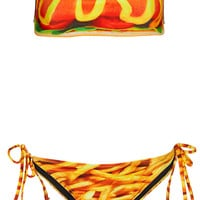 Multi Hot Dog Bandeau Bikini - Topshop USA