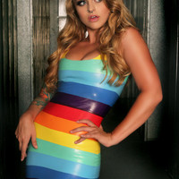 Latex Rainbow Dress