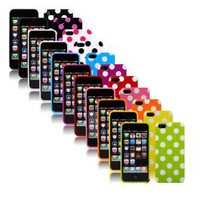 Amazon.com: Pack of 11 Fashion Polka Dot Flex Gel TPU Skin Case for new iPhone 5 5G 5TH: Cell Phones & Accessories