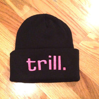 Pink trill. Knit Beanie
