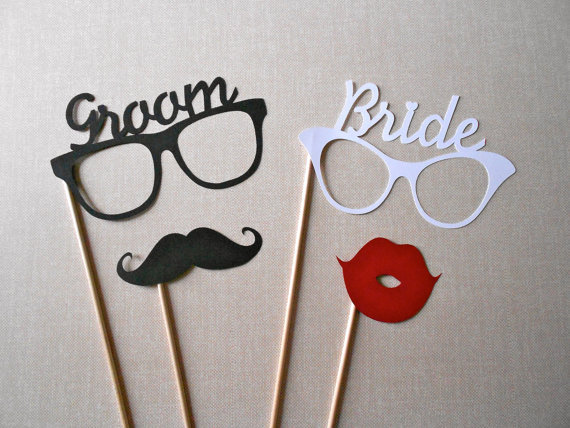 Groom And Bride Glasses Photo Booth Prop From ThePropMarket On