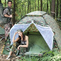 Amazon.com: CVLIFE Hiking & Camping Camouflage 3 Person Instant Tent With Portable Bag: Sports & Outdoors