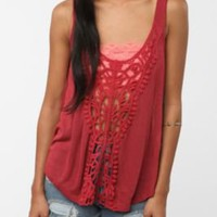 Staring at Stars Crochet Inset Cropped Tank