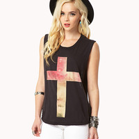 Shredded Cross Muscle Tee | FOREVER21 - 2054685028