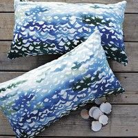 Outdoor Summer Wave Pillow | west elm