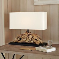 Oblong Driftwood Table Lamp | west elm