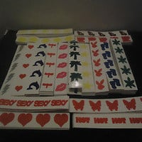 Assorted Tanning Stickers - Choose Your Amount - Hearts, Stars, Bunnies, etc!