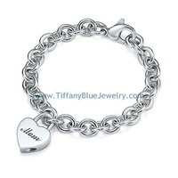 Find The Last Cheap Tiffany & Co Mom Heart Lock Charm on Bracelet In Tiffanybluejewelry.com