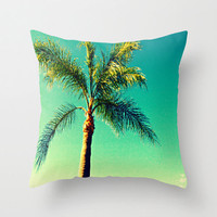 Decorative Pillow Cover - throw pillow home decor beautiful south florida palm tree landscape photography 16x16