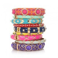 Charm &amp; Chain | Enamel Bangles, Assorted Colors