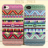 red/blue Tribal Hybrid Impact Case for iphone 4/4s/5