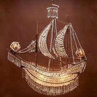 Crystal Ship Chandelier | Hanging Lamps | Lighting | Z Gallerie