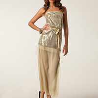 Sequin Mesh Maxi Dress, Club L