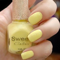Yellow Sweet Color 12 ml Nail Polish