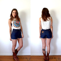 Vintage Jordache High Waisted Denim Shorts 28 Waist Size 10