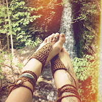 bare your sole.  barefoot sandals.  color clay. 'in stock/ ready to ship'