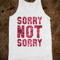 Sorry Not Sorry (Sparkle Tank) - Sorority Sisters - Skreened T-shirts, Organic Shirts, Hoodies, Kids Tees, Baby One-Pieces and Tote Bags