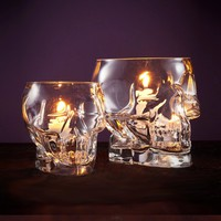 Glass Skull Votives