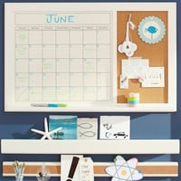 Dry-Erase Calendar Corkboard