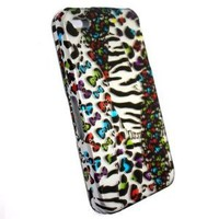 Amazon.com: Premium Hard Snap On/ Faceplate Case for Iphone 4/ 4s Silver Based with Mixed Animal Zebra, Leopard & Cheetah with Colorful Little Bow Print + Free Anti Dust Plug Random Pick!: Everything Else