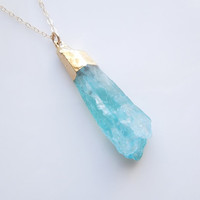 Sea Foam Quartz Necklace
