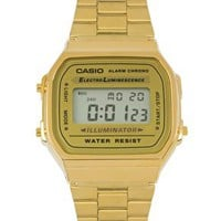 Casio A168WG-9EF Gold Plated Digital Watch at asos.com