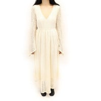 Lady Marshmallow White Lace Goddess Dress | VidaKush