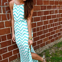 Tied Back Zig Zag in Mint | The Rage