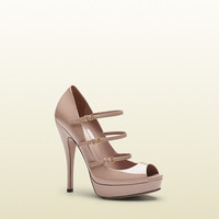 lisbeth light pink patent leather high-heel platform shoe  309983BNC006812