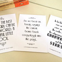 The Great Gatsby Postcard Set