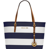 MICHAEL Michael Kors  Small Jet Set Striped Travel Tote