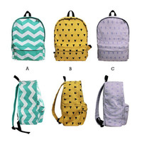 Geometric Canvas Backpack  Faboutique