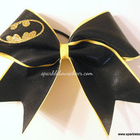 Batty Super Hero Large Cheer Bow Hair Bow by SparkleBowsCheer