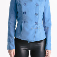 mud and rain jacket - blue at Esther Boutique