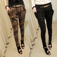 New Sexy Fashion Korean Harem Pants casual trousers Leopard Print Women&#x27;s Ladies
