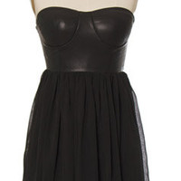 Bombshell Black Bustier Dress