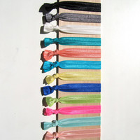 Sale 30% OFF- New Colors - CHOOSE 5 Elastic No Tug Hair Ties  - Choose Colors