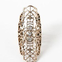  Metropark / Crystal Filigree Full Finger Ring