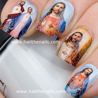 Jesus & Mary Nail Art Water Transfer Decal Full by Hailthenails