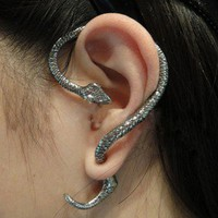 cute retro Snake wind ear stud/earrings